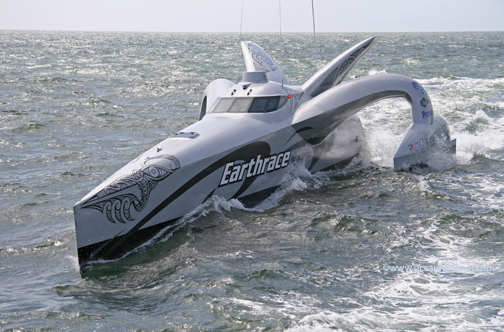 Earthrace Boat, image from BoatDesign.net